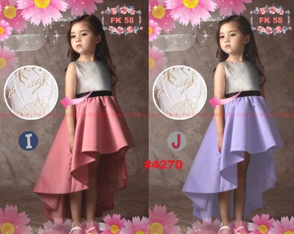 Ready Stock Dress Dress Pesta Anak Import Putih Dark Rsby 4270